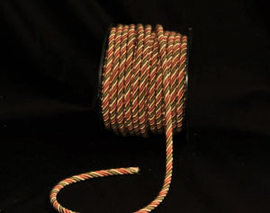 "1/4"" Olive & Dusty Rose Decorative Cording - 5 Yards"