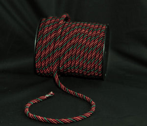 "3/8"" Burgundy & Hunter Green Decorative Cord Trim"