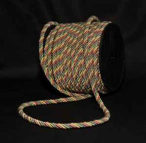 "1/4"" Celery, Medium Pink, Yellow Gold & Teal Green Decorative Cording - 5 Yards"