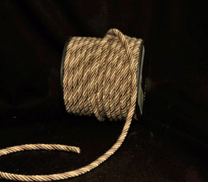 "1/4"" Taupe, Tan & Beige Decorative Cord Trim - 5 Yards"