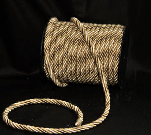 "3/8"" Taupe, Gold & Ivory Decorative Cording - 5 Yards"