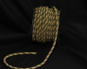 "1/4"" Taupe & Olive Decorative Cording - 5 Yards"