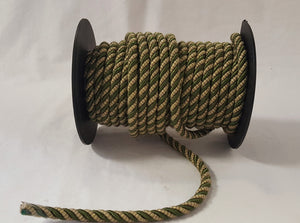"1/2"" Olive & Taupe Decorative Cording - 5 Yards"