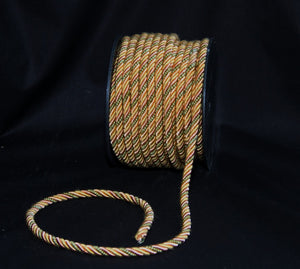 "1/4"" Sage, Gold & Blush Decorative Cording - 5 Yards"