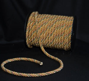 "1/2"" Sage, Gold & Blush Decorative Cording - 5 Yards"