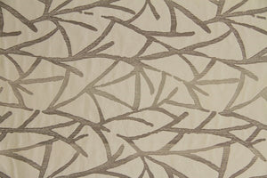 Discount Fabric JACQUARD Birch Tree Branches Upholstery & Drapery