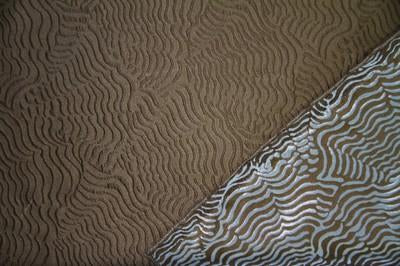 Discount Fabric JACQUARD Bronze Wave Drapery