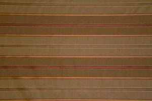 "55"" Taupe & Deep Red Stripe Drapery--DISCOUNT FABRIC--10 Yards"