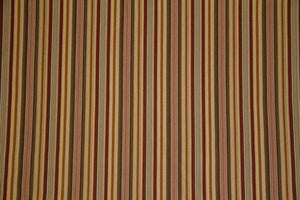"56"" Olive/Gold/Red Stripe Drapery--DISCOUNT FABRIC--10 Yards"