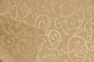 Discount Fabric JACQUARD Honey Tone Scroll Drapery