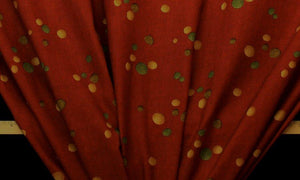 Discount Fabric DRAPERY Paprika Pebbles