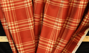 Party Plaid in Paprika Drapery
