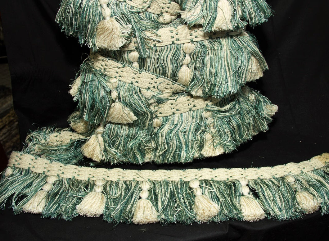 Teal & Creme Decorative Fringe