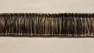 "2"" Black, Taupe, Gray & Gold Brush Fringe"