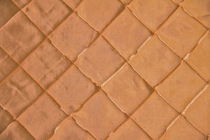 Gold Pintuck Taffeta Fabric