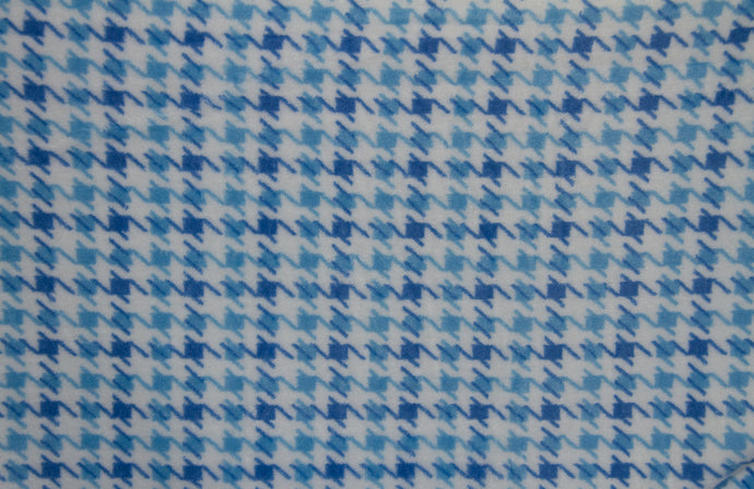 Ultra Plush Whisper Fleece Fabric--Hounds Tooth Blue