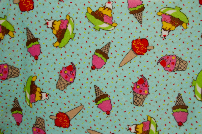 Ultra Plush Whisper Fleece Fabric--Ice Cream Aqua
