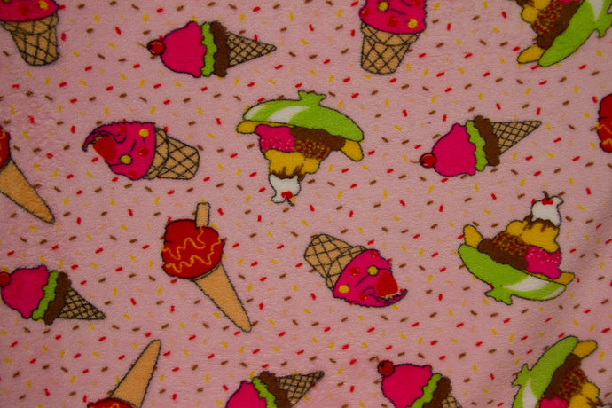 Ultra Plush Whisper Fleece Fabric--Ice Cream Light Pink