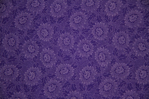 "108"" Purple Extra Wide 100% Cotton Fabric - Lacy"