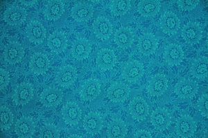 "108"" Turquoise Extra Wide 100% Cotton Fabric - Lacy"