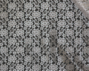 White Raschel Lace-WHOLESALE DISCOUNT FABRIC-15 Yard Bolt