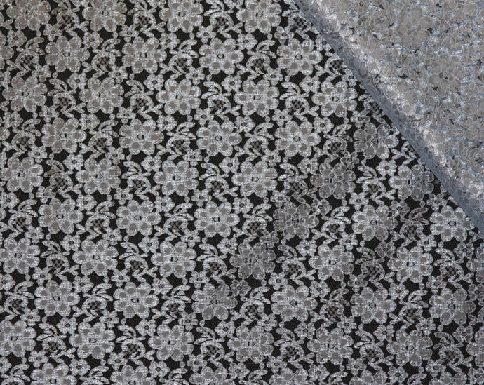 Light Blue Raschel Lace Fabric