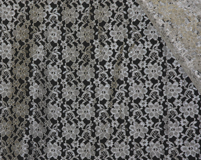 Ivory Raschel Lace - WHOLESALE DISCOUNT FABRIC - 15 Yard Bolt