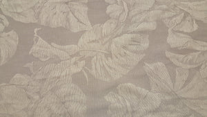 "Discount Fabric JACQUARD - 19 1/2"" Wide - Light Gray & Ivory Leaf Brocade"