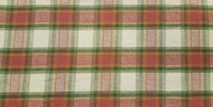 "Discount Fabric DRAPERY - 13 1/4"" Wide - Olive, Gold & Raspberry Plaid"