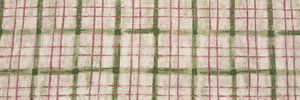 "Discount Fabric DRAPERY - 5 1/2"" Wide - Green, Mauve & Ivory Shaded Plaid"