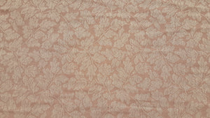 "Discount Fabric JACQUARD - 11 1/2"" Wide - Dusty Mauve Leaf Brocade Drapery"
