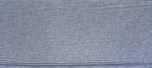 "Discount Fabric POLY/COTTON - 8"" Wide - Light Blue Chambray"