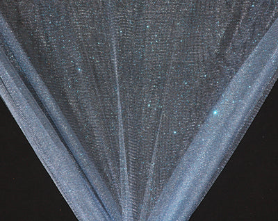 Light Blue Sparkle Glitter Tulle Fabric
