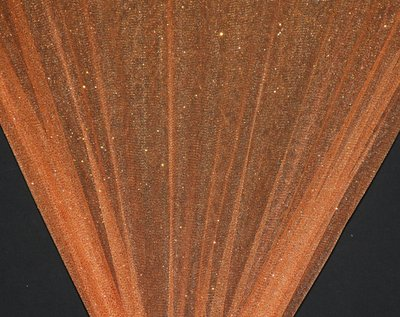 Orange Sparkle Glitter Tulle Fabric