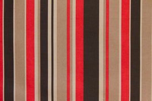 "59"" Red & Black Stripe Indoor & Outdoor Fabric"