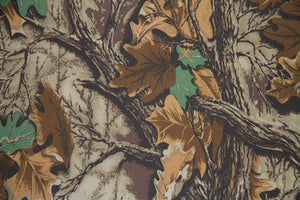 "59"" Brown & Green Leaf Camouflage Indoor & Outdoor Fabric"