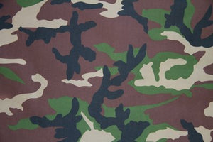"5 Yards--SALE FABRIC--59"" Green & Brown Camouflage Indoor & Outdoor Fabric"
