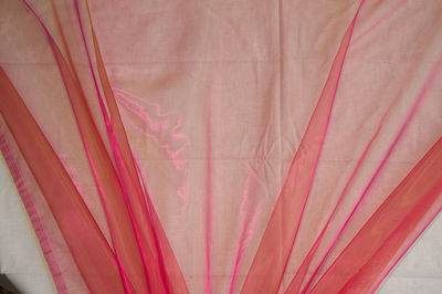 Pink Yellow Organza Fabric