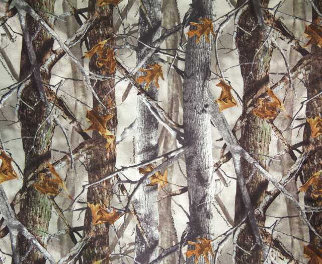 True Timber Tan XD3 Camouflage Charmeuse Satin Fabric