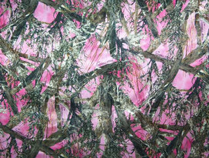 True Timber Pink Camouflage Charmeuse Satin Fabric