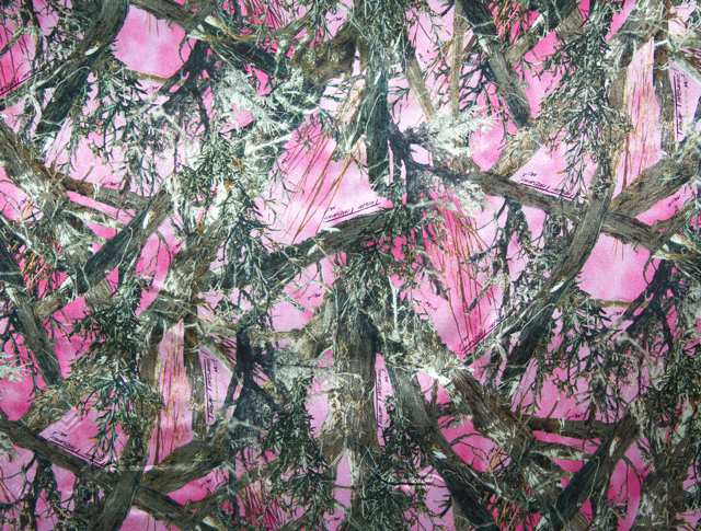 True Timber Pink Camouflage Charmeuse Satin--WHOLESALE FABRIC--15 Yard Bolt