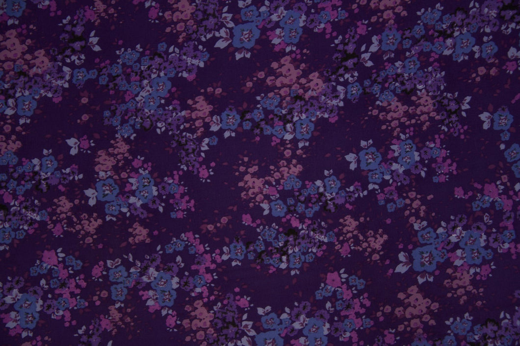 Purple Floral Koshibo Fabric