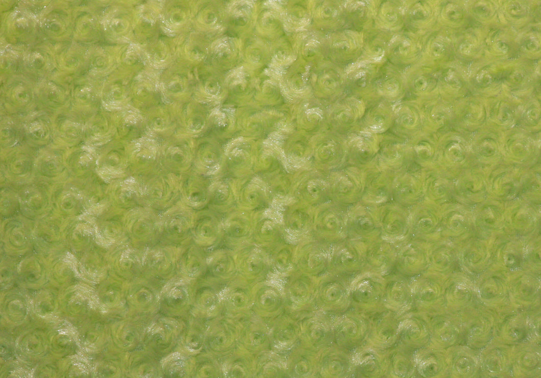 Leaf Green Rosie Minky Fabric