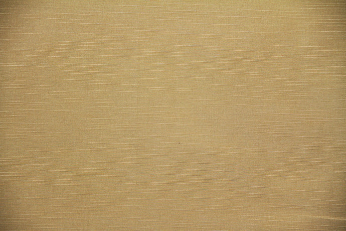 Discount Fabric DRAPERY Gold Slub Faux Satin