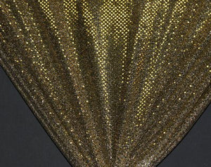 Black/Gold Dot Sequin Knit- WHOLESALE FABRIC-12 Yard Bolt