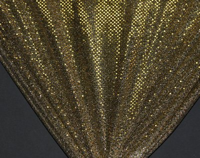 Black/Gold Dot Sequin Knit - WHOLESALE FABRIC - 12 Yard Bolt