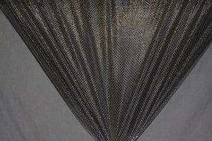 Black Dot Sequin Knit - WHOLESALE FABRIC - 12 Yard Bolt