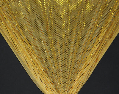 Gold Dot Sequin Knit Fabric