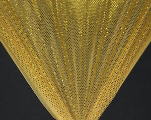 Gold Dot Sequin Knit-WHOLESALE FABRIC- 12 Yard Bolt
