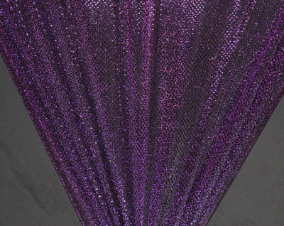 Purple Dot Sequin Knit Fabric